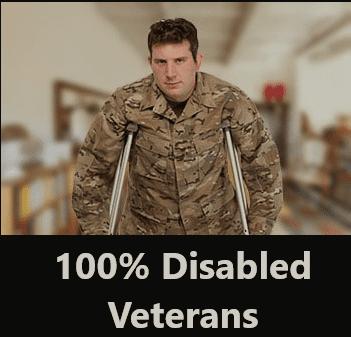 100% Disabled Veterans